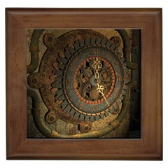 Steampunk, Awesoeme Clock, Rusty Metal Framed Tiles by FantasyWorld7