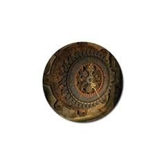 Steampunk, Awesoeme Clock, Rusty Metal Golf Ball Marker (4 Pack) by FantasyWorld7