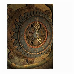Steampunk, Awesoeme Clock, Rusty Metal Large Garden Flag (two Sides) by FantasyWorld7