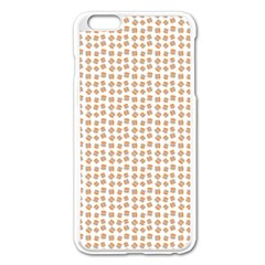 Burger Pattern Apple Iphone 6 Plus/6s Plus Enamel White Case by stockimagefolio1