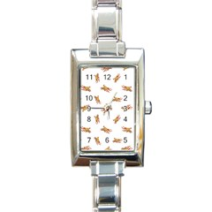 Crabs Photo Collage Pattern Design Rectangle Italian Charm Watch by dflcprints
