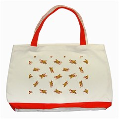 Crabs Photo Collage Pattern Design Classic Tote Bag (red)