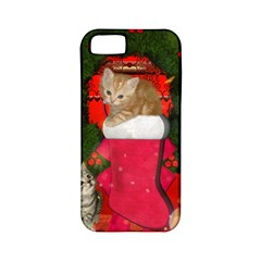 Christmas, Funny Kitten With Gifts Apple Iphone 5 Classic Hardshell Case (pc+silicone) by FantasyWorld7