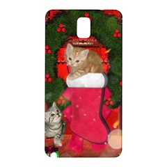Christmas, Funny Kitten With Gifts Samsung Galaxy Note 3 N9005 Hardshell Back Case by FantasyWorld7