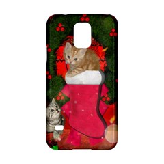 Christmas, Funny Kitten With Gifts Samsung Galaxy S5 Hardshell Case  by FantasyWorld7