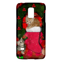 Christmas, Funny Kitten With Gifts Galaxy S5 Mini by FantasyWorld7