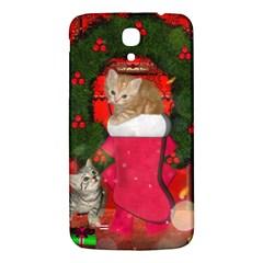 Christmas, Funny Kitten With Gifts Samsung Galaxy Mega I9200 Hardshell Back Case by FantasyWorld7