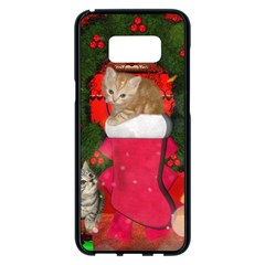 Christmas, Funny Kitten With Gifts Samsung Galaxy S8 Plus Black Seamless Case by FantasyWorld7