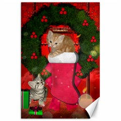 Christmas, Funny Kitten With Gifts Canvas 20  X 30   by FantasyWorld7