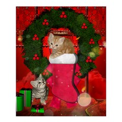 Christmas, Funny Kitten With Gifts Shower Curtain 60  X 72  (medium)  by FantasyWorld7