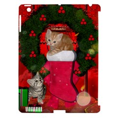 Christmas, Funny Kitten With Gifts Apple Ipad 3/4 Hardshell Case (compatible With Smart Cover) by FantasyWorld7