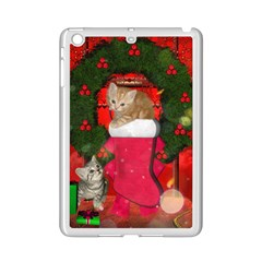 Christmas, Funny Kitten With Gifts Ipad Mini 2 Enamel Coated Cases by FantasyWorld7