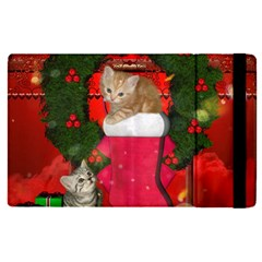 Christmas, Funny Kitten With Gifts Apple Ipad Pro 9 7   Flip Case by FantasyWorld7
