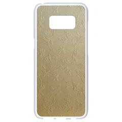 Gold Floral Royal Pattern  Samsung Galaxy S8 White Seamless Case