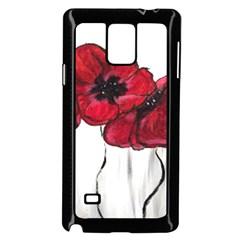 Main Street Poppies Hr Aceo Samsung Galaxy Note 4 Case (black) by artbyjacquie