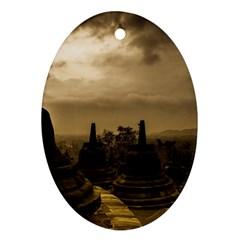 Borobudur Temple Indonesia Ornament (oval)
