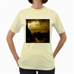 Borobudur Temple Indonesia Women s Yellow T Shirt