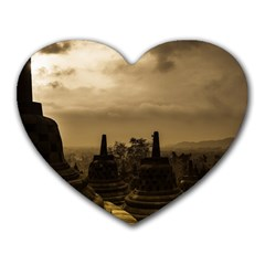 Borobudur Temple Indonesia Heart Mousepads