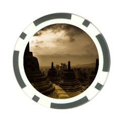 Borobudur Temple Indonesia Poker Chip Card Guard (10 Pack)