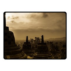 Borobudur Temple Indonesia Fleece Blanket (small)