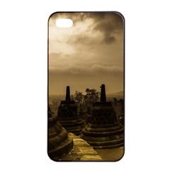 Borobudur Temple Indonesia Apple Iphone 4/4s Seamless Case (black)