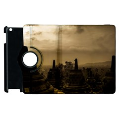 Borobudur Temple Indonesia Apple Ipad 2 Flip 360 Case by Nexatart