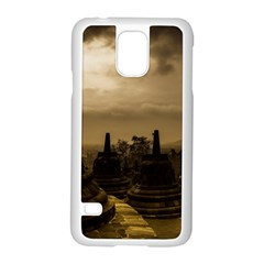 Borobudur Temple Indonesia Samsung Galaxy S5 Case (white) by Nexatart