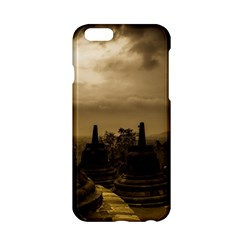 Borobudur Temple Indonesia Apple Iphone 6/6s Hardshell Case by Nexatart