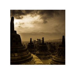 Borobudur Temple Indonesia Small Satin Scarf (square) by Nexatart