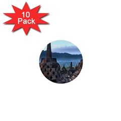 Borobudur Temple  Morning Serenade 1  Mini Buttons (10 Pack)