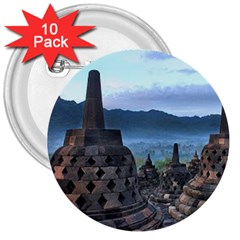 Borobudur Temple  Morning Serenade 3  Buttons (10 Pack)  by Nexatart