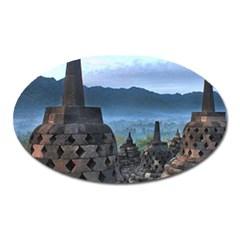 Borobudur Temple  Morning Serenade Oval Magnet