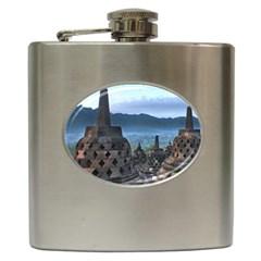 Borobudur Temple  Morning Serenade Hip Flask (6 Oz)