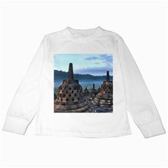 Borobudur Temple  Morning Serenade Kids Long Sleeve T Shirts