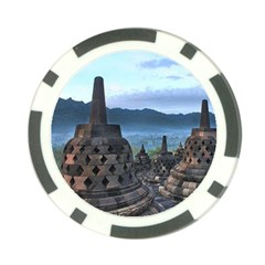 Borobudur Temple  Morning Serenade Poker Chip Card Guard