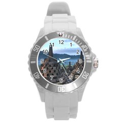 Borobudur Temple  Morning Serenade Round Plastic Sport Watch (l)