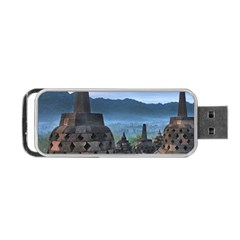 Borobudur Temple  Morning Serenade Portable Usb Flash (two Sides) by Nexatart