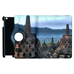 Borobudur Temple  Morning Serenade Apple Ipad 3/4 Flip 360 Case by Nexatart