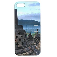 Borobudur Temple  Morning Serenade Apple Iphone 5 Hardshell Case With Stand by Nexatart
