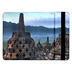 Borobudur Temple  Morning Serenade Samsung Galaxy Tab Pro 12 2  Flip Case by Nexatart