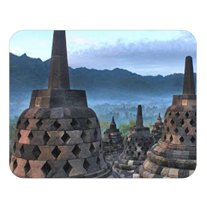 Borobudur Temple  Morning Serenade Double Sided Flano Blanket (Large)