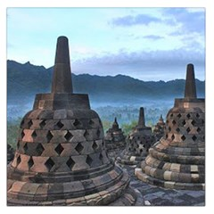 Borobudur Temple  Morning Serenade Large Satin Scarf (square)