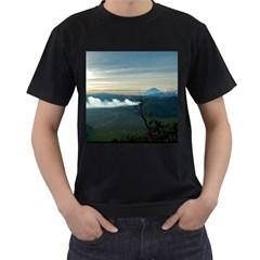 Bromo Caldera De Tenegger  Indonesia Men s T Shirt (black) (two Sided)
