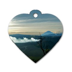Bromo Caldera De Tenegger  Indonesia Dog Tag Heart (one Side)
