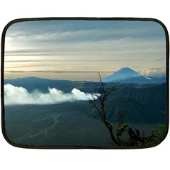 Bromo Caldera De Tenegger  Indonesia Fleece Blanket (mini) by Nexatart