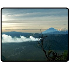 Bromo Caldera De Tenegger  Indonesia Double Sided Fleece Blanket (medium)