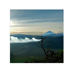 Bromo Caldera De Tenegger  Indonesia Small Satin Scarf (square) by Nexatart