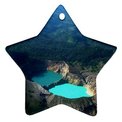 Kelimutu Crater Lakes  Indonesia Ornament (star)