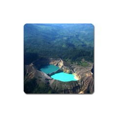 Kelimutu Crater Lakes  Indonesia Square Magnet by Nexatart
