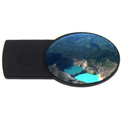 Kelimutu Crater Lakes  Indonesia Usb Flash Drive Oval (2 Gb) by Nexatart